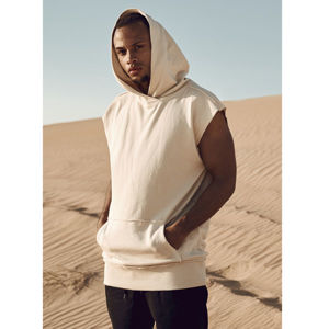 Urban Classics Open Edge Sleeveless Hoody sand