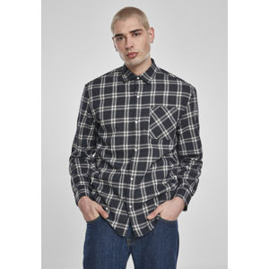 Urban Classics Oversized Check Shirt midnightnavy/white