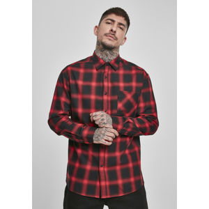 Urban Classics Oversized Checked Shirt blk/red
