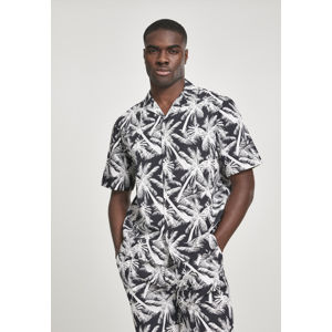 Urban Classics Pattern Resort Shirt palm/white