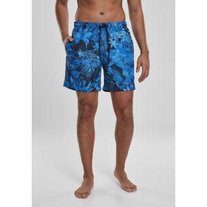 Urban Classics Pattern Swim Shorts blue flower