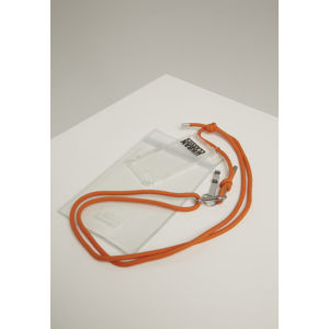 Urban Classics Phone Necklace with Additionals I Phone 8 transparent/orange