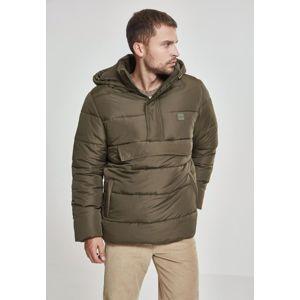 Urban Classics Pull Over Puffer Jacket darkolive