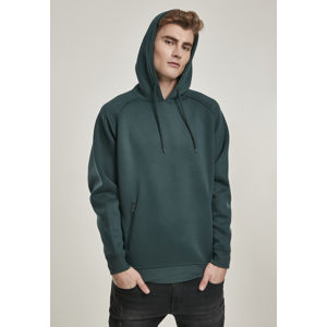 Urban Classics Raglan Zip Pocket Hoody bottlegreen