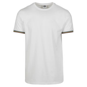 Urban Classics Rib Ringer Tee wht/multicolor
