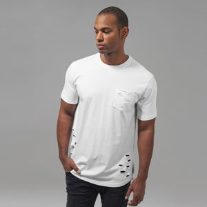 Urban Classics Ripped Pocket Tee white