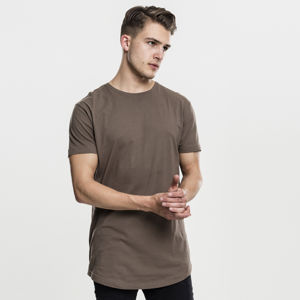 Pánské tričko Urban Classics Shaped Long Tee army green