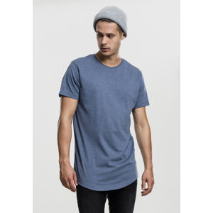Tričko Urban Classics Shaped Melange Long Tee stone blue