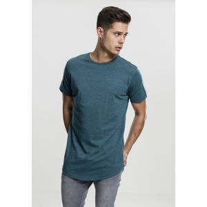 Tričko Urban Classics Shaped Melange Long Tee teal
