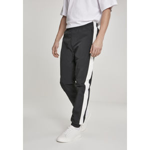 Urban Classics Side Striped Crinkle Track Pants blk/wht
