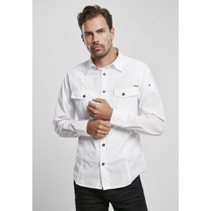 Urban Classics Slim Worker Shirt white