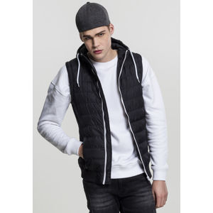 Urban Classics Small Bubble Hooded Vest blk/wht