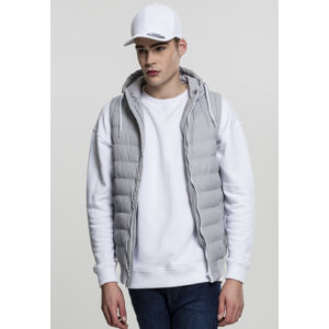Urban Classics Small Bubble Hooded Vest gry/wht