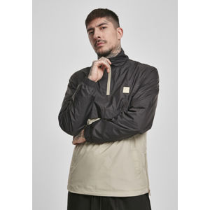 Urban Classics Stand Up Collar Pull Over Jacket black/concrete