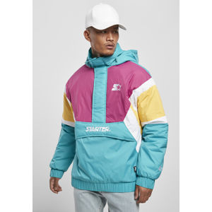Starter Color Block Half Zip Retro Jacket lake blue/s pnk/by/wht
