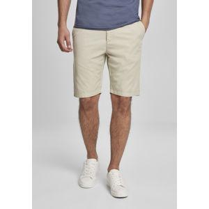 Urban Classics Straight Leg Chino Shorts with Belt concrete