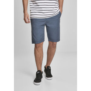 Urban Classics Straight Leg Chino Shorts with Belt vintageblue