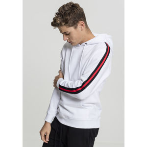 Urban Classics Stripe Shoulder Hoody wht/blk/firered