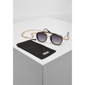 Urban Classics Sunglasses Ibiza With Chain black/gold