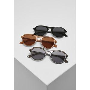 Urban Classics Sunglasses Kalimantan 3-Pack brown/grey/black