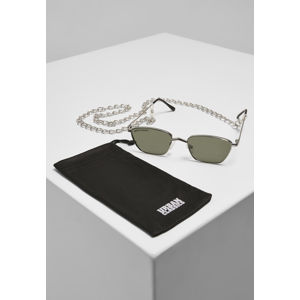 Urban Classics Sunglasses Kalymnos With Chain silver/green