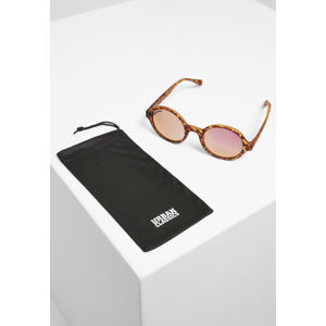 Urban Classics Sunglasses Retro Funk UC brown leo/rosé