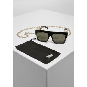 Urban Classics Sunglasses Zakynthos With Chain black/gold