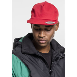 Urban Classics Unstructured 5-Panel Snapback red
