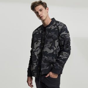 Bomberová bunda Urban Classics Vintage Camo Cotton Bomber Jacket dark camo