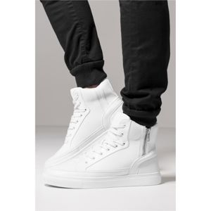 Urban Classics Zipper High Top Shoe white