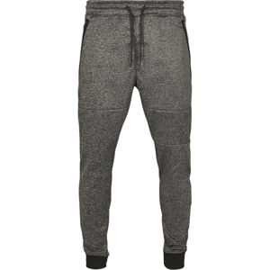 Urban Classics Zipper Pocket Marled Tech Fleece Jogger marled black